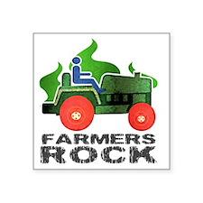"farmersRockLite Square Sticker 3"" x 3"""