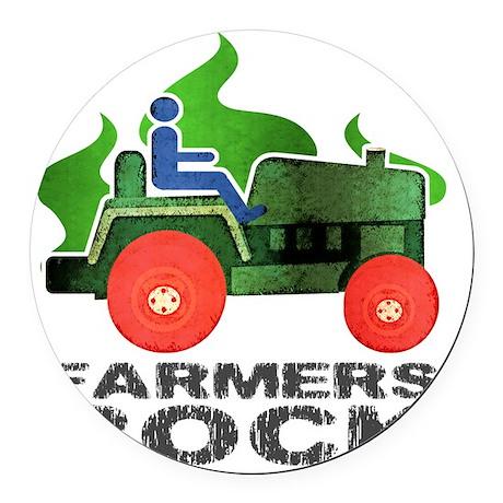 farmersRockLite Round Car Magnet