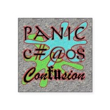 "panicchaosconfus Square Sticker 3"" x 3"""
