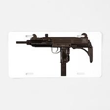 Uzi Aluminum License Plate