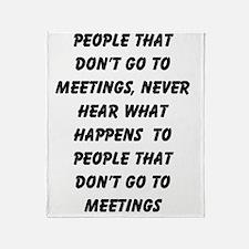 MEETINGS Throw Blanket