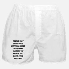 MEETINGS Boxer Shorts