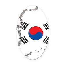 3DSouthKorea2 Oval Car Magnet