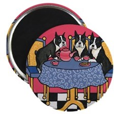 Cute Boston terrier party Magnet