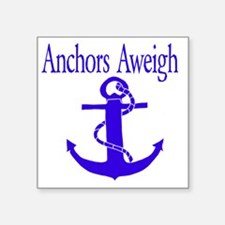 "Anchors Aweigh Square Sticker 3"" x 3"""