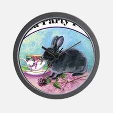 teapartypets10x Wall Clock