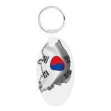 SouthKorea2Bk Keychains