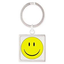 smile Square Keychain