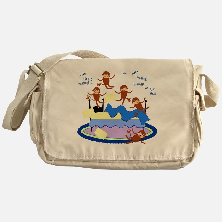 Five Little Monkeys Messenger Bag