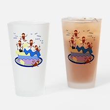 Five Little Monkeys Drinking Glass