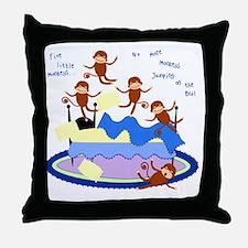 Five Little Monkeys Throw Pillow