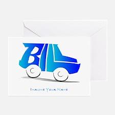 Bill blue car Greeting Cards (Pk of 10)