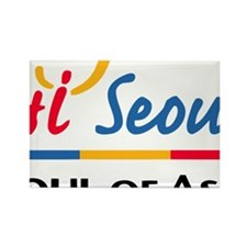 Seoul_Flag Rectangle Magnet