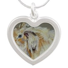 angora Silver Heart Necklace