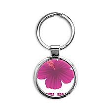 HibiscusSouthKorea Round Keychain