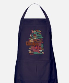 wordle 5 dark kilimanjaro Apron (dark)