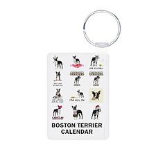 Boston Terrier Calendar Keychains