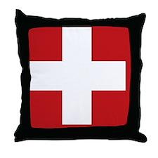 swiss-flag Throw Pillow