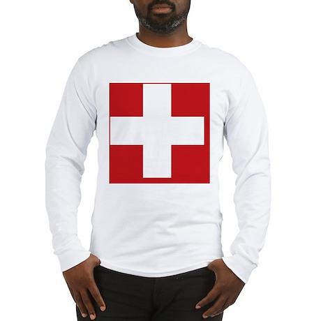 swiss-flag Long Sleeve T-Shirt