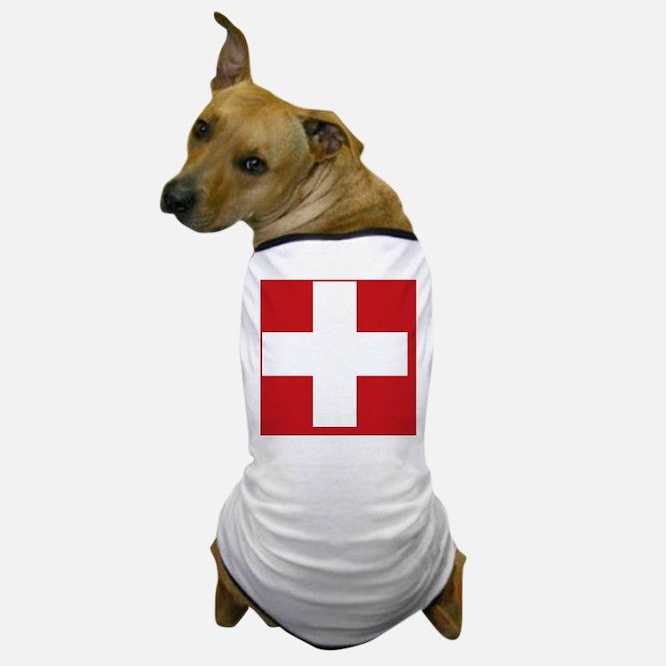 swiss-flag Dog T-Shirt