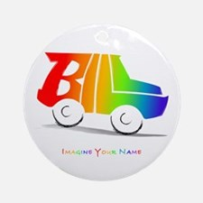 Bill rainbow car Ornament (Round)