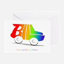 Bill rainbow car Greeting Cards (Pk of 10)