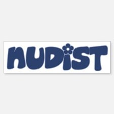 nudist Bumper Bumper Sticker