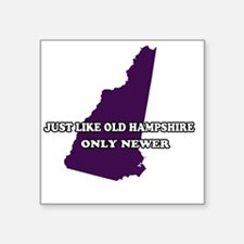 "2-New Hampshire Square Sticker 3"" x 3"""