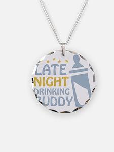 drinkingbuddy_dark Necklace