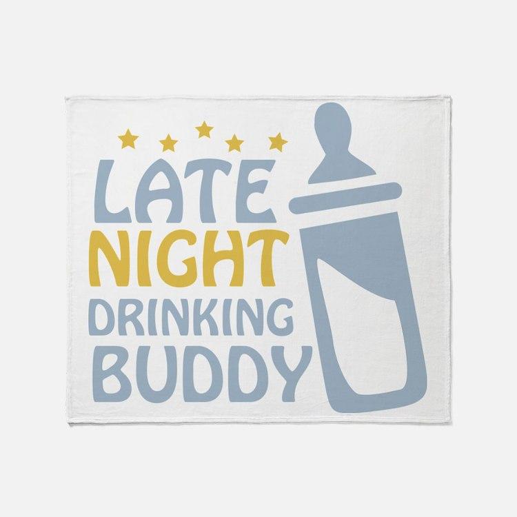 drinkingbuddy_dark Throw Blanket