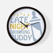 drinkingbuddy_dark Wall Clock