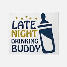 drinkingbuddy Throw Blanket