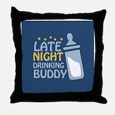 drinkingbuddy_icon Throw Pillow