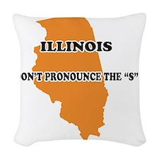 2-Illinois Woven Throw Pillow