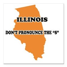 "2-Illinois Square Car Magnet 3"" x 3"""