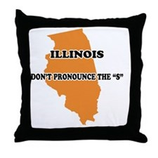 2-Illinois Throw Pillow