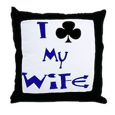 2-Wife Throw Pillow