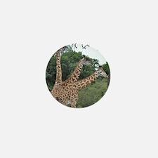 three giraffes Mini Button