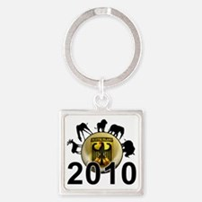 Germany Football5 Square Keychain