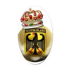 Germany Football7 Oval Car Magnet