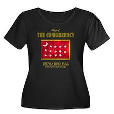 Van Dorn Women's Plus Size Dark Scoop Neck T-Shirt