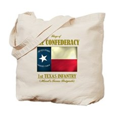 1st Texas Inf (Flag 3) Tote Bag