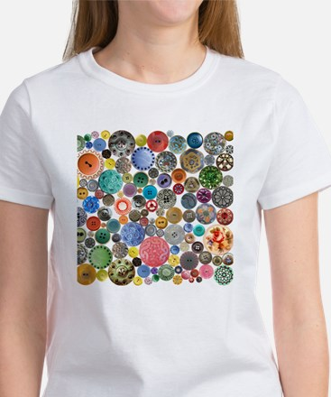 Buttons Square Women's T-Shirt
