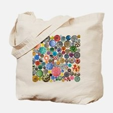 Buttons Square Tote Bag