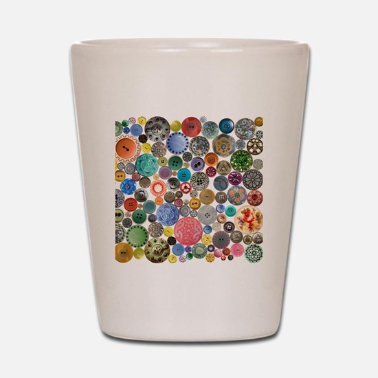 Buttons Square Shot Glass