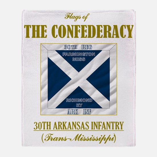 30th Arkansas Inf (Flag 3) Throw Blanket