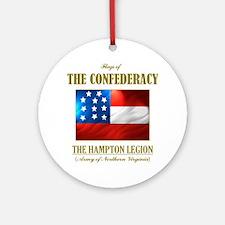 The Hampton Legion (Flag 3) Round Ornament
