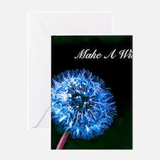 Biolumenescent Dandelion2 Greeting Card