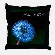Biolumenescent Dandelion2 Throw Pillow