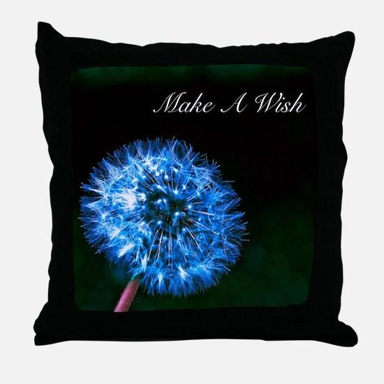 Biolumenescent Dandelion2 Throw Pillow